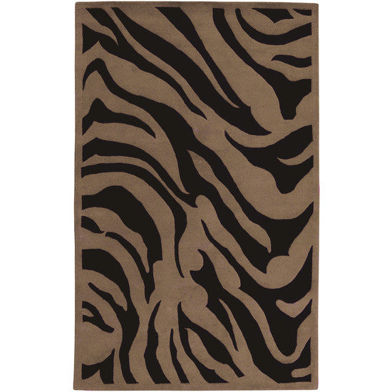 Mosaic Collection Wool Rug, Brown