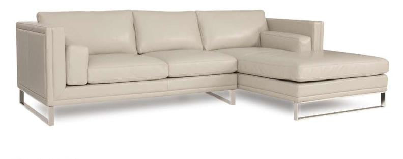 Melange Leather Sectional