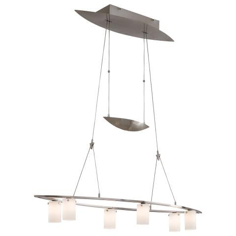 Counter Weights 6 Light Adj. Chandelier