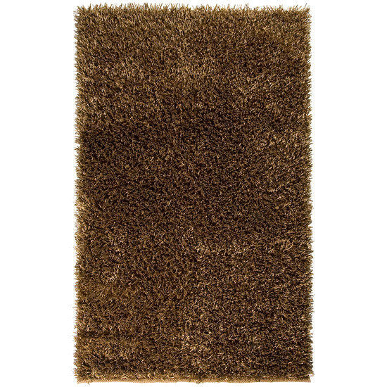 Shimmer Shag Area Rug, Copper
