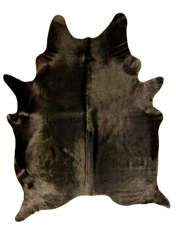 Natural Solid Black Cowhide