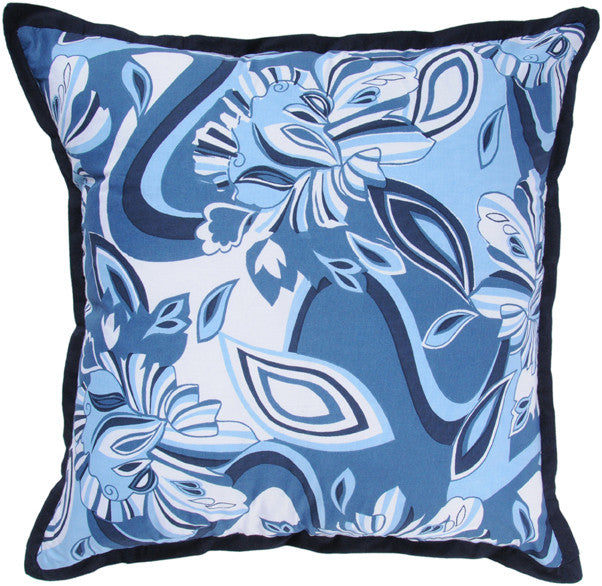Printed Pattern with Flange Cotton Pillow