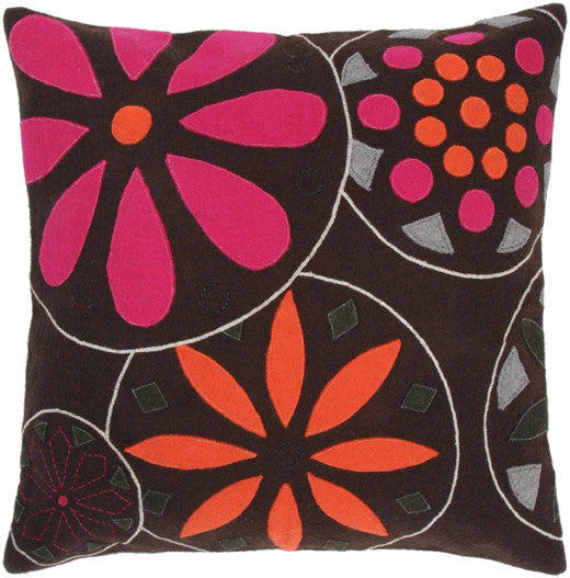 Aplique and Embroidered Felt Pillow
