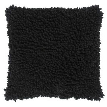 Black Shag Cotton Pillow