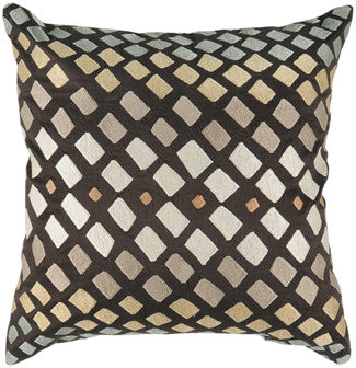 Embroidered Poly Dupioni Pillow