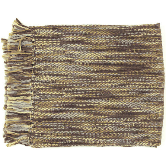 Teegan Brown/Gray Throw