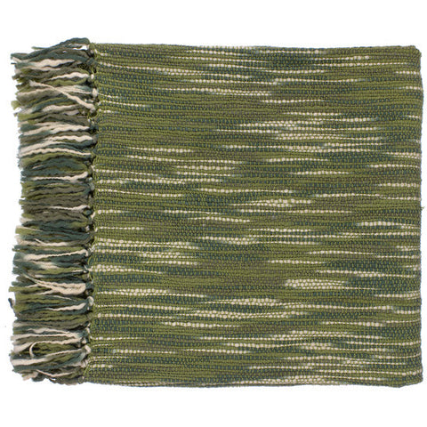 Teegan Green/Ivory Throw
