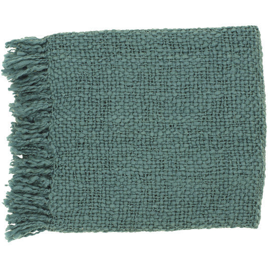 Tobias Teal Throw