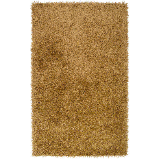 Vivid Collection Hand Woven Shag Rug, Bronze