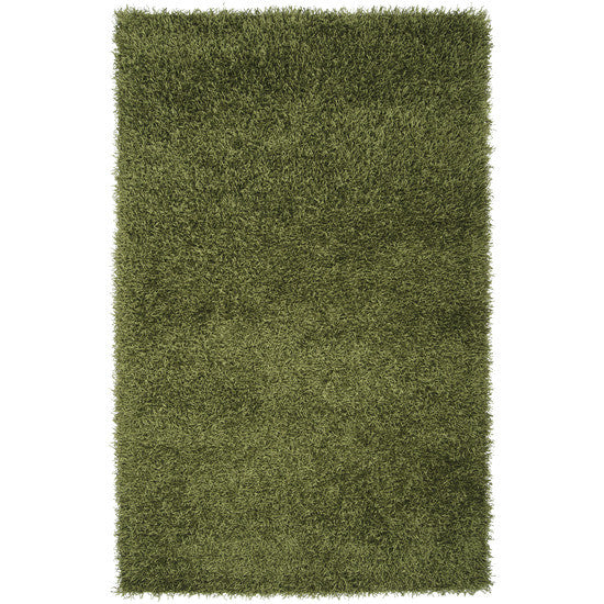 Vivid Collection Hand Woven Shag Rug, Green