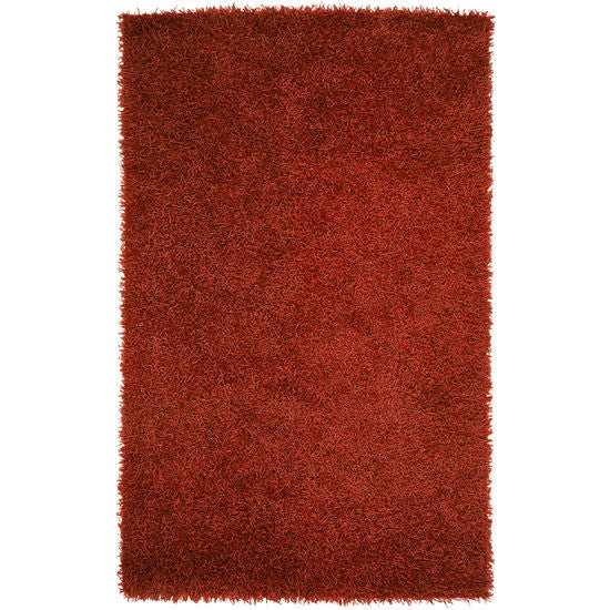 Vivid Collection Hand Woven Shag Rug, Red