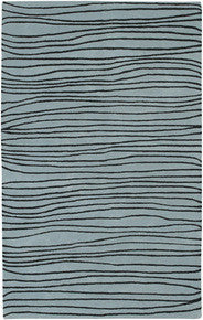 Artist Studio Hand Tufted Wool Rug, Blue