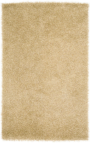 Vivid Collection Hand Woven Shag Rug, Gold