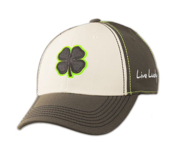 Black Clover Gray and Green Hat front view