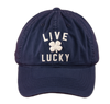 Black Clover Navy Blue Baseball Cap Top view