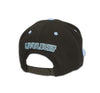 Black Clover Blue and Black Flat Brim Hat back view
