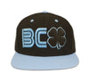 Black Clover Blue and Black Flat Brim Hat front side view