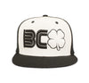 Black Clover Black and White Flat Brim Hat front view