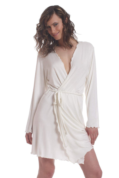 SNOA Sleepwear - Astrid Mini Robe - 100% Modal - Black