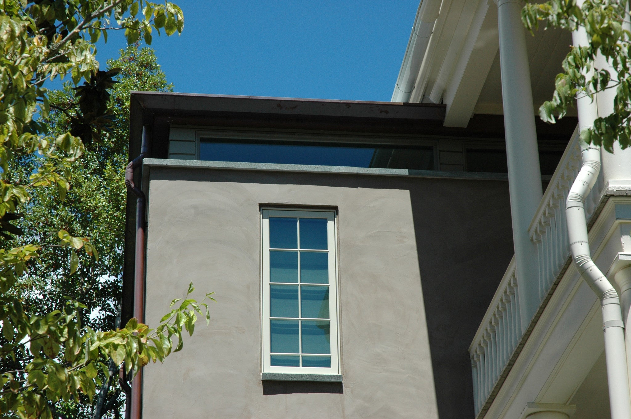Downtown Charleston addition - Limewash on stucco