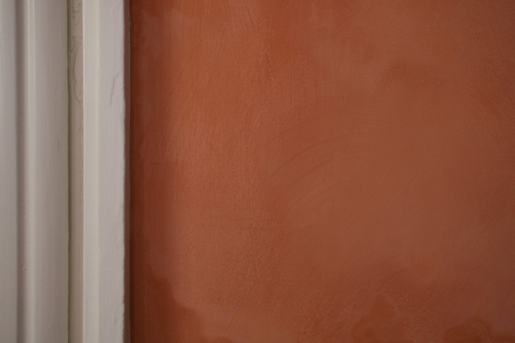 Limewash on interior plaster
