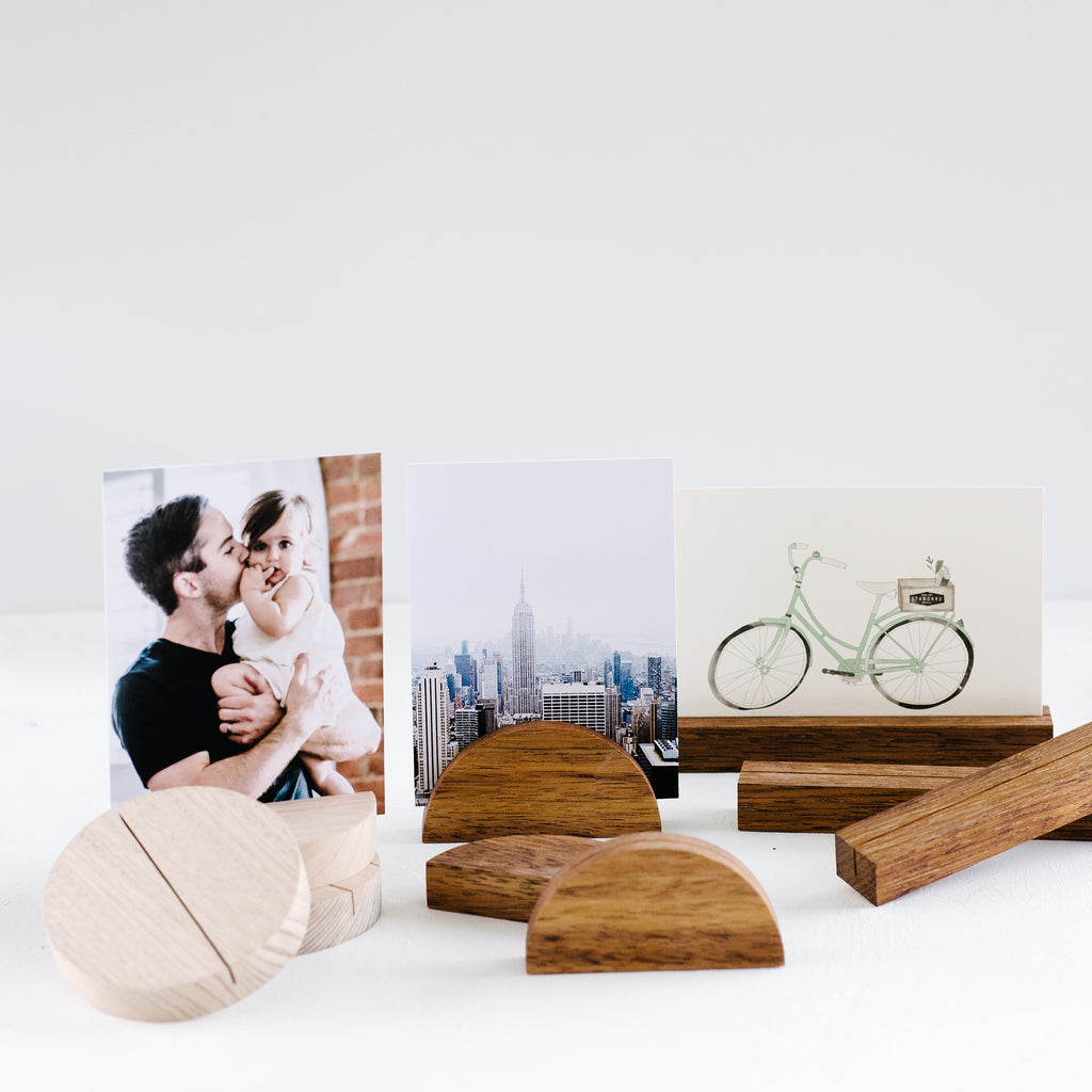 LARGE SET of 3 Timber Photo Stand