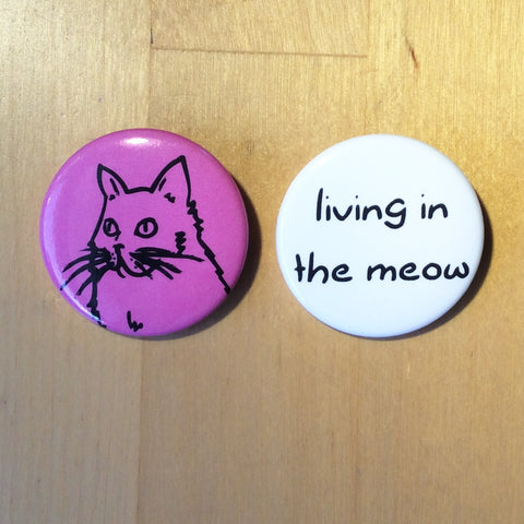 Living in the Meow Button Set