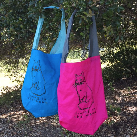 Living in the Meow Nylon Reusable Bag
