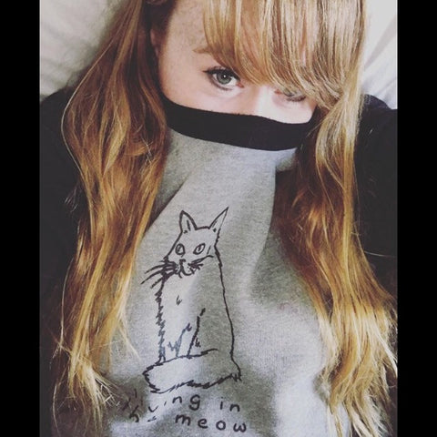 Living in the Meow Unisex Sweatshirt
