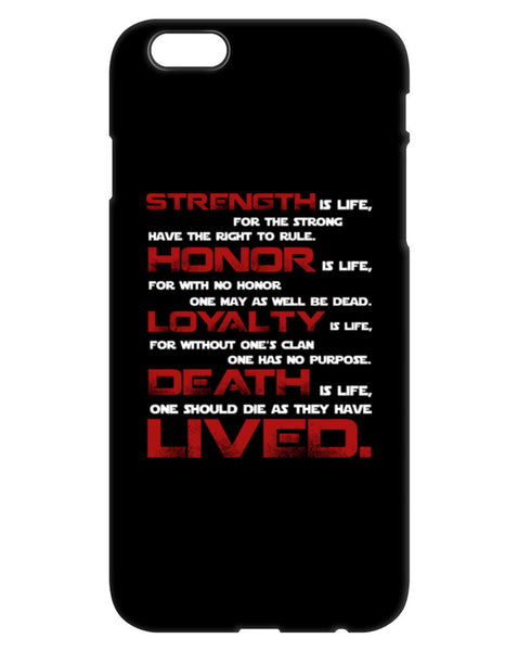 Mandalorian Code of Honor - iPhone Case
