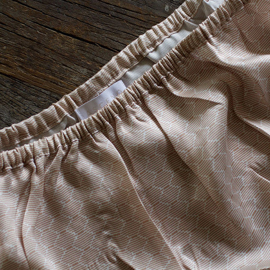 Tap Shorts in Nude