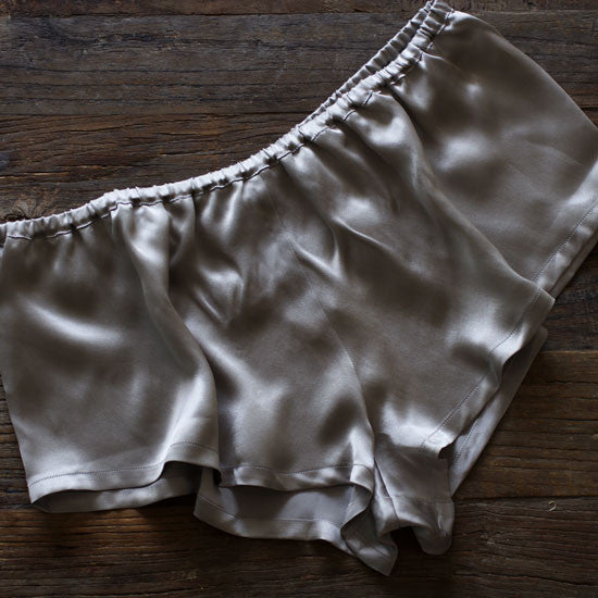 Paloma Grey Silk Tap Shorts