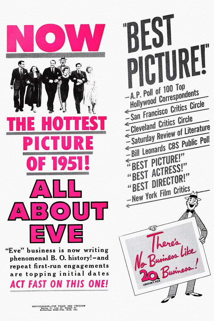 All About Eve (1950) Movie Poster