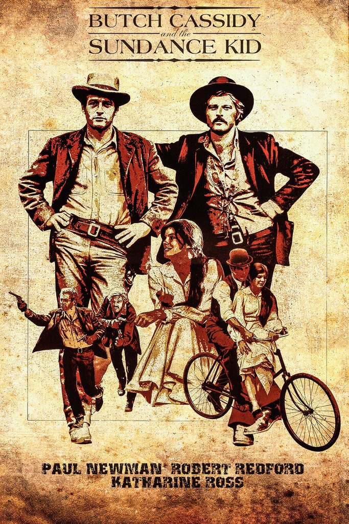 Butch Cassidy and the Sundance Kid (1969) IMDB Top 250 Movie Poster