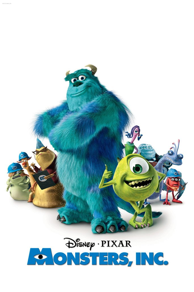 Image result for monsters inc movie poster