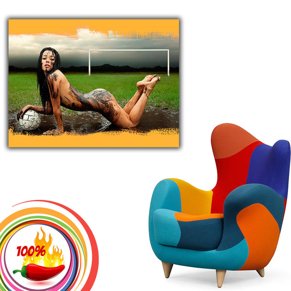 Football Soccer Sexy Nude Girl Poster  My Hot Posters-3417