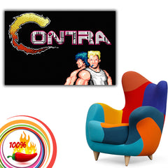 Contra Old Classic Retro Game Poster