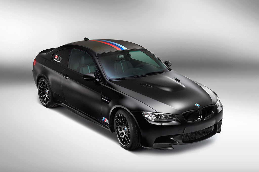 Car BMW M3 Black Matted Poster