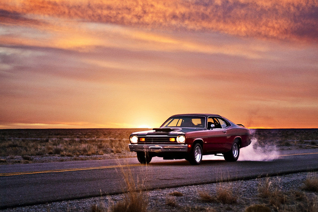 Plymouth Duster Mucsle Car Auto Poster