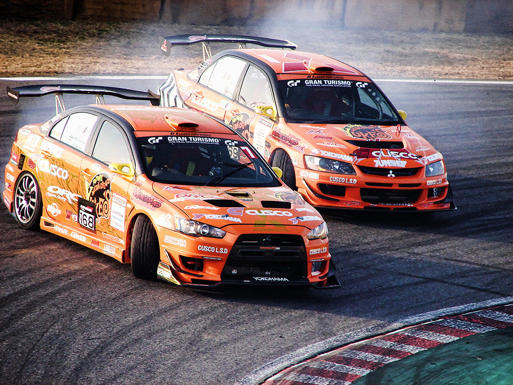 Mitsubishi Lancer Evolution Evo X Drift Car Auto Poster