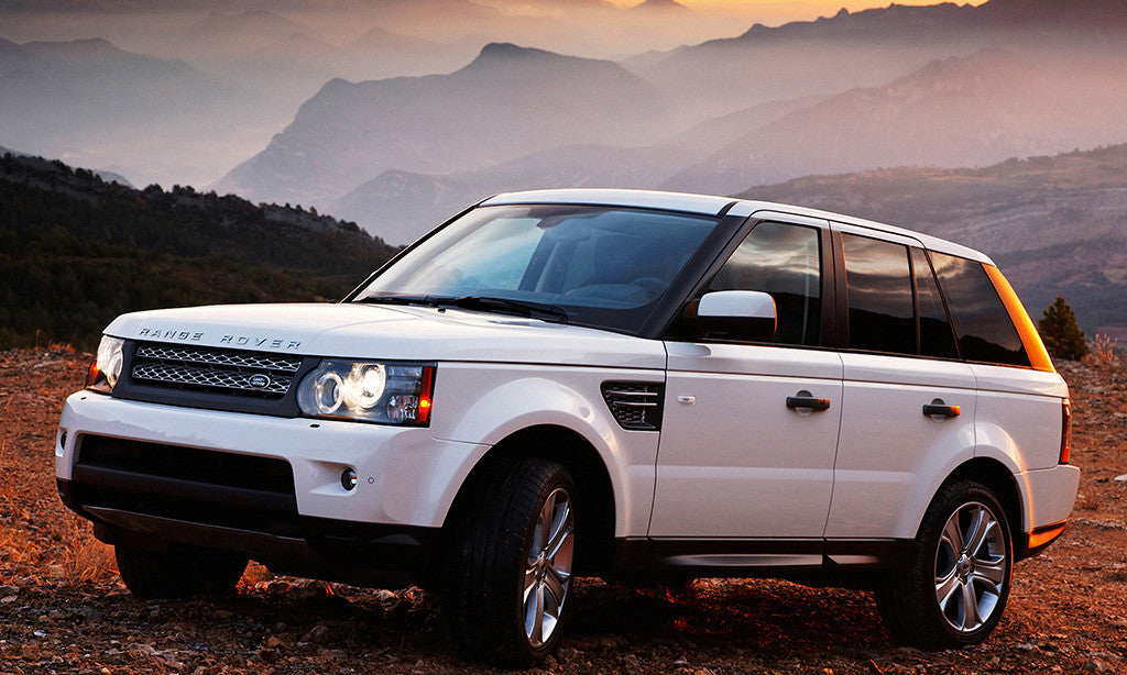 Range Rover Sunset White Car Auto Poster