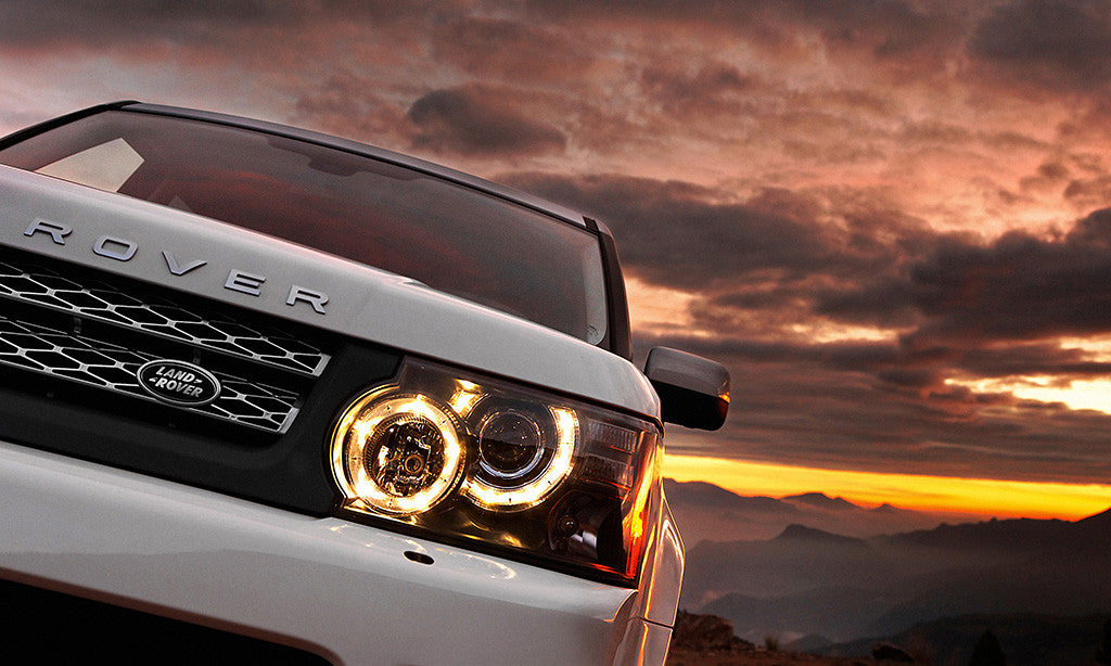Range Rover Close Up Sunset Car Auto Poster
