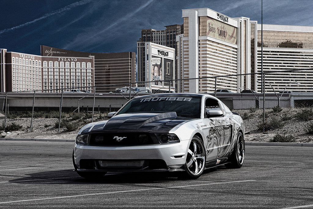 Ford Mustang Tuning Car Auto Poster