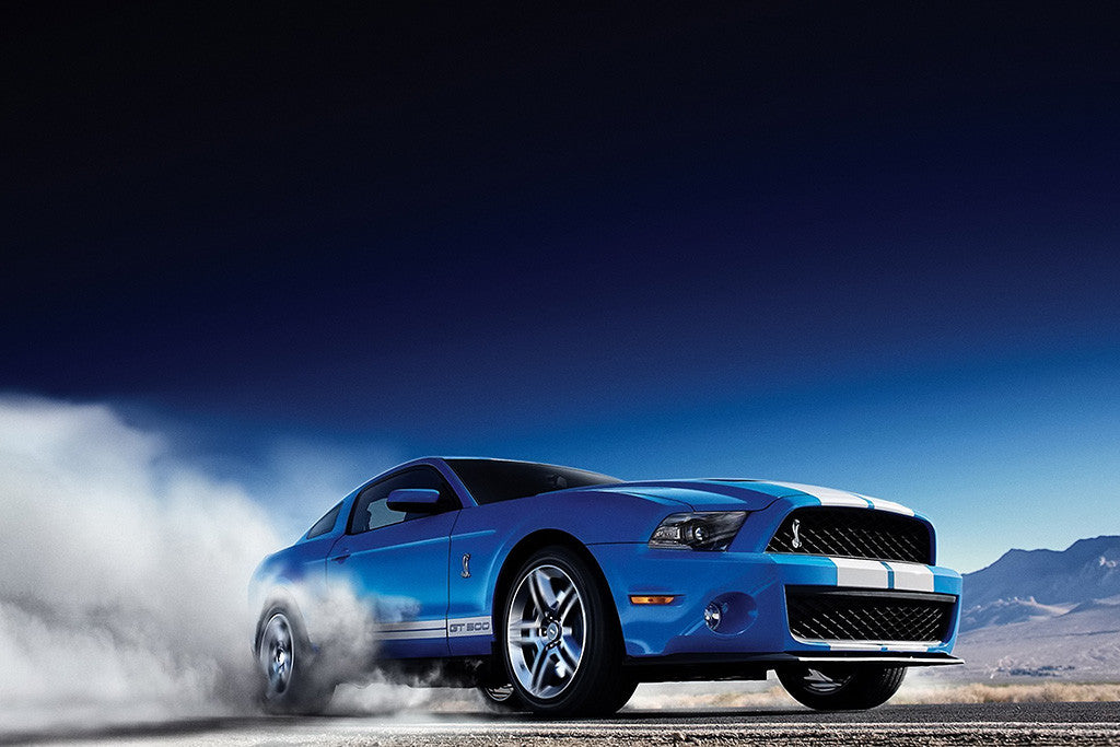 Ford Mustang Drift Car Auto Poster