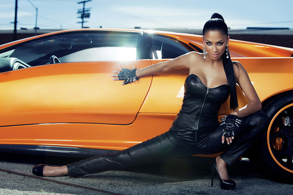 Nicole Scherzinger Hot Woman Sexy Girl Car Auto Poster