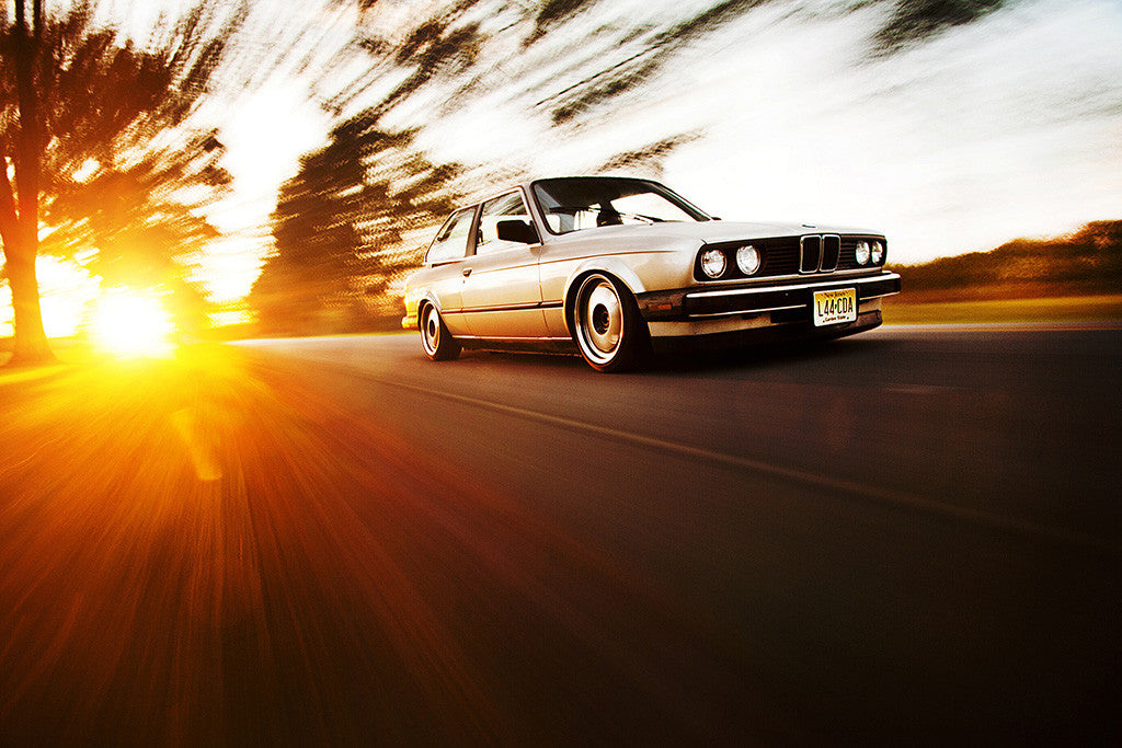 BMW 3 Series E30 Retro Vintage Car Auto Poster