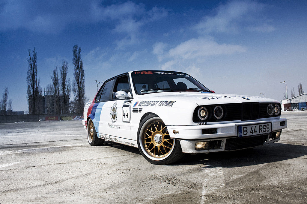 BMW 3 Series E30 M3 Tuning Retro Vintage Car Auto Poster