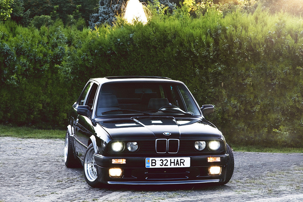 BMW M3 E30 Retro Vintage Black Car Auto Poster