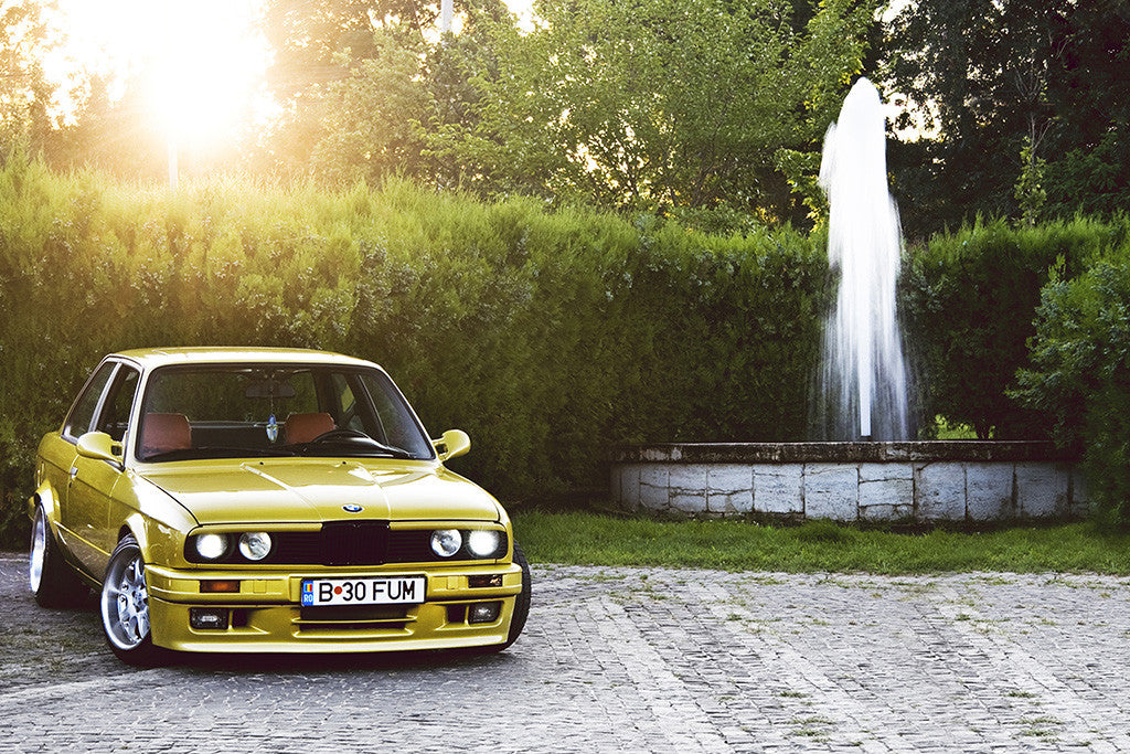 BMW E30 Tuning Retro Vintage Car Auto Poster