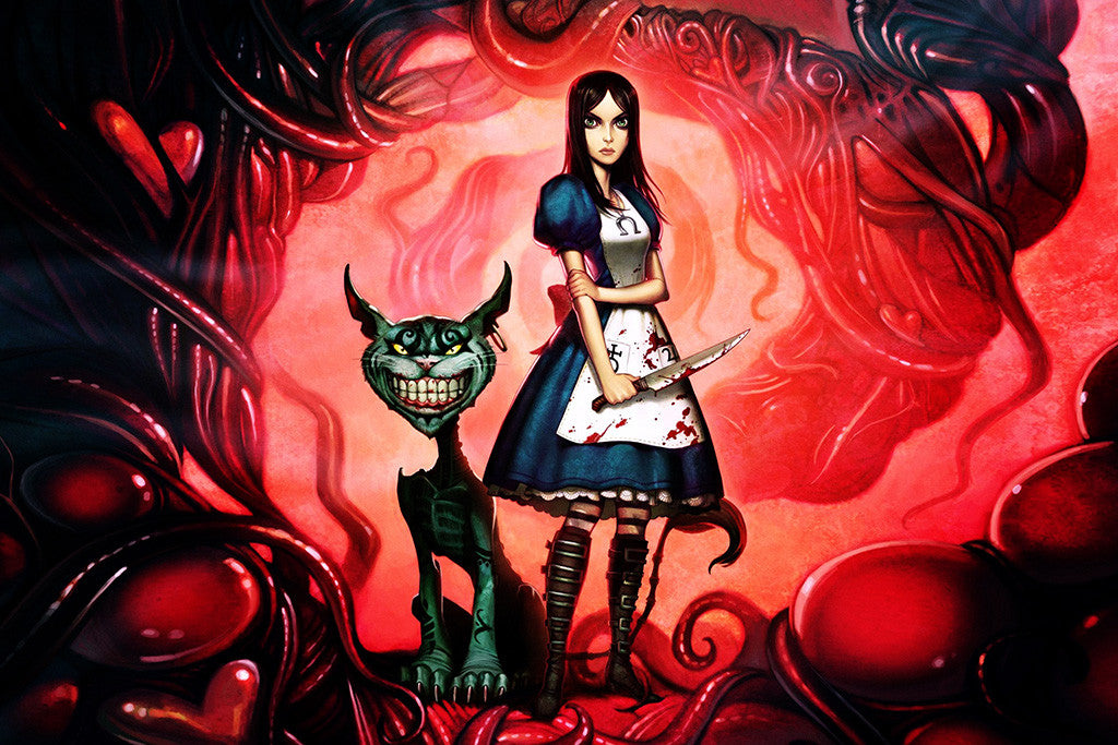 Alice Madness Returns American Mcgee's Cheshire Cat Poster